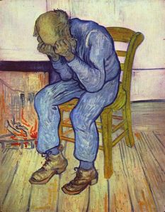 Vincent van Gogh: A las puertas de la eternidad, 1890. Kröller-Müller Museum, Otterlo, Países Bajos.