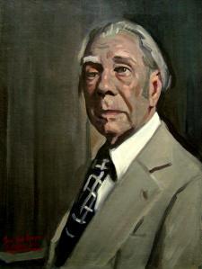 Alejandro Cabeza: Jorge Luis Borges, ca. 2013.