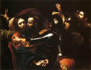 Caravaggio: El beso de Judas, 1598. Galería Nacional, Dublin.