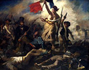Eugène Delacroix: La libertad guiando al pueblo, 1830. Musée du Louvre.
