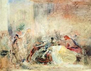Konstantin Makovsky: Muerte de Claudio César, ca. 1865. Galería Tretyakov, Moscú.
