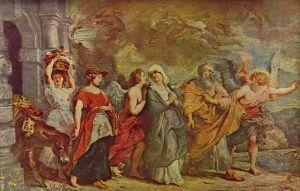 Peter Paul Rubens: Lot huyendo de Sodoma, 1625. Musée du Louvre.