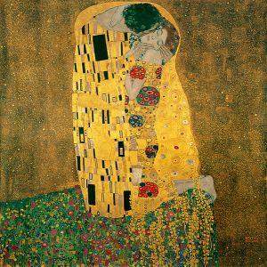Gustav Klimt: El beso, 1907-1908. Österreischische Galerie Belvedere, Viena.