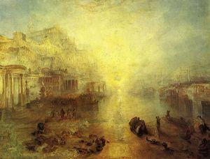 Joseph Turner: Ovido expulsado de Roma, 1838. Colección privada.