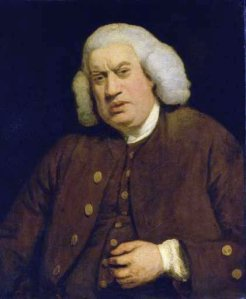 Sir Joshua Reynolds: Retrato de Samuel Johnson, 1772. Tate Gallery, Londres