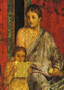 Detalle de la Villa dei Misteri, siglo I EC, Pompeya.