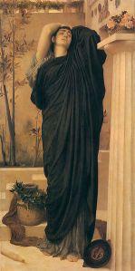 Frederic Leighton: Electra en la tumba de Agamemnón, 1869. Colección privada.