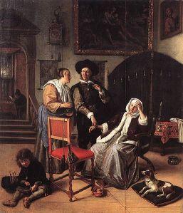 Jan Steen: La visita del médico, 1662. Colección privada.
