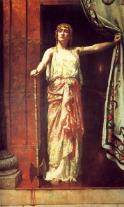 John Collier: Clitemnestra, 1862. Guildhall Art Gallery, Londres.