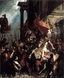 Eugène Delacroix: La justicia de Trajano, 1858. Museo de Arte de Honolulu, Hawaii.