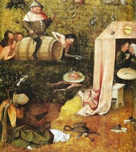 Hyeronimus Bosch: Alegoría de la intemperancia, ca. 1488-1510. Yale University Art Gallery, New Haven.