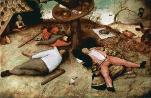Pieter Bruegel el Viejo: El país de Cucaña, 1567. Alte Pinakothek, München.