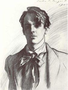 John Singer Sargent: William Butler Yeats, 1908. Boceto. Colección privada.