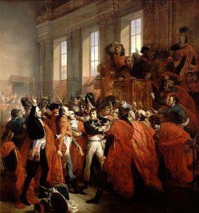 François Bouchot: Bonaparte y el Consejo de los Quinientos, 10 de Noviembre de 1799 (1840). Palacio de Versailles.