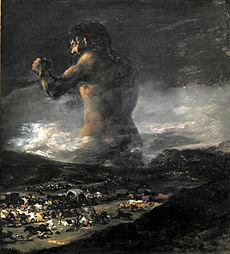 Francisco de Goya y Lucientes: El coloso, 1818-1825. Museo del Prado, Madrid.