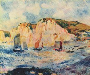 Pierre Auguste Renoir: Mer et Bateaux, Normandie, 1883. Metropolitan Museum, New York.