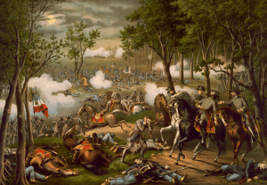 Autor desconocido/Publicado en Kurz & Allison: Batalla de Chancellorsville, 1890. Library of Congress.