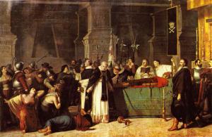 Luis Montero: Los funerales de Atahualpa, 1868. Museo de Arte de Lima.