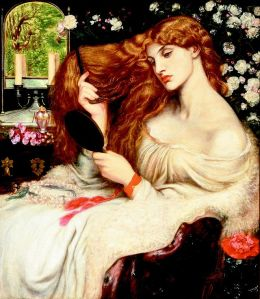Dante Gabriel Rossetti: Lady Lilith, 1873. Delaware Art Museum, Wilmington.
