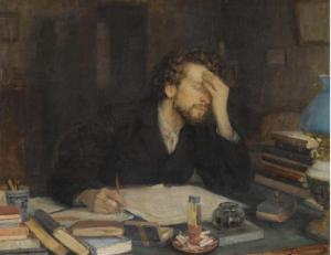 Leonid Osipovich Pasternak: La creación literaria, s. XiX. Colección privada.
