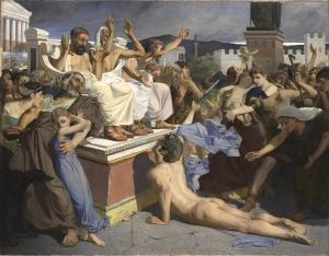 Luc-Olivier Merson: Le soldat du Marathon, 1869. Colección privada.