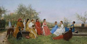 Raffaello Sorbi: Decamerone, 1876. Colección privada.