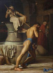 Carl Heinrich Bloch: Sansón y los filisteos, 1863. Statens Museum for Kunst, Copenhagen.