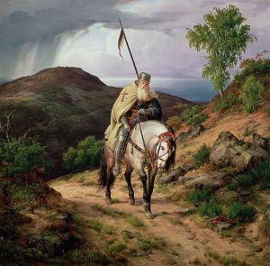 Karl Friedrich Lessing: El último cruzado. Sin datación. Colección privada.