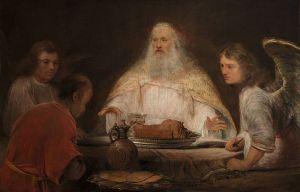 Aert de Gelder: Abraham y los ángeles, 1685. Museo Boijmans Van Beuningen, Rotterdam.