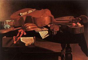 Evaristo Baschenis: Instrumentos musicales, ca. 1650. Museo Real de Bellas Artes de Bélgica, Bruselas.