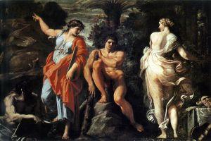 Anibale Carracci: Hércules en la encrucijada, 1596. Museo di Capodimonte, Nápoles.