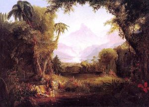 Thomas Cole: The Garden of Eden,1828. Colección privada.
