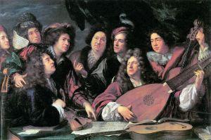 François Puget: Retrato de músicos y artistas, 1688. Musée du Louvre.