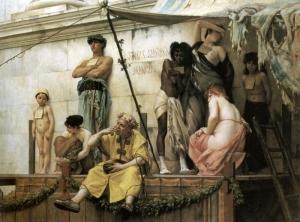 Gustave Boulanger: El mercado de esclavos, 1886. Colección privada.