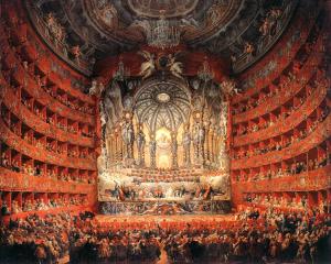 Giovani Panini: El teatro Argentina de Roma, 1747. Musée du Louvre.