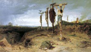 Fyodor Bronnikov: Esclavos crucificados, 1878. Galería Tretyakov. Moscú.