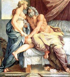 Annibale Carracci: Júpiter y Juno, 1597. Palazzo Farnese, Roma.