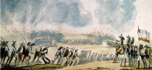 Anónimo: Fusilamientos en Nantes, 1793. Biblioteca Nacional de Francia.