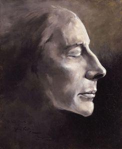 Benjamin Robert Haydon: Retrato póstumo de John Keats, 1821. National Portrait Gallery, Londres.