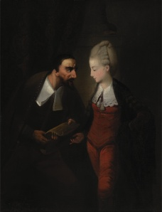 Edward Alcock: Portia y Shylock, 1778. Yale Center for British Art, New Haven.