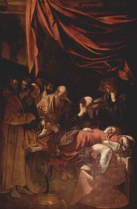 Michelangelo Merisi da Caravaggio: Muerte de la Virgen, 1606. Musée du Louvre.