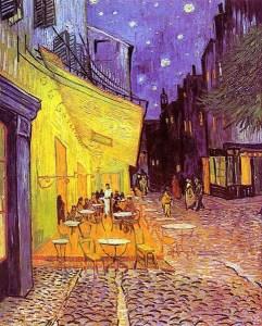 Vincent van Gogh: Noche en el Café Terrace, 1888. Kröller-Müller Museum, Otterlo, Países Bajos.