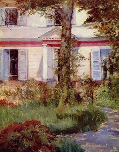 Édouard Manet:  Maison à Rueil, 1882. National Gallery of Victoria, Melbourne.