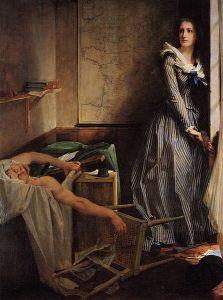 Paul Baudry: L'Assassinat de Marat o Chalotte Corday, 1860. Museo de Bellas Artes de Nantes.
